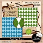 Argyle Paper Creator by Boop Designs