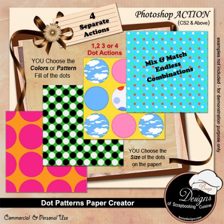 Dot Pattern Paper Creator by Boop Designs