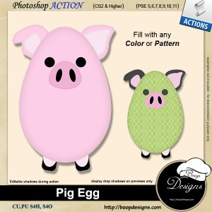 Pig Egg by Boop Designs