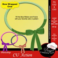 Bow Wrapped Oval by Boop Designs