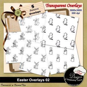 Easter Pattern Overlays 02 by Boop Designs