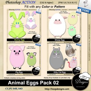 Animal Egg Pack 02 by Boop Designs