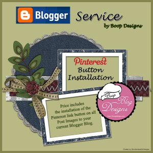 Pinterest Button Instalation by Boop Designs