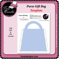 Purse Gift Bag TEMPLATE by Boop Designs