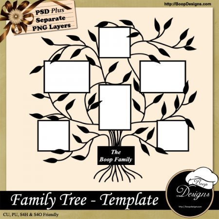 Home :: • Boop Designs :: Family Tree TEMPLATE by Boop Designs