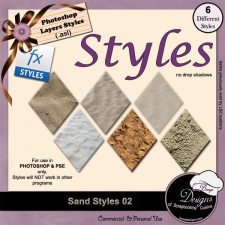 Sand STYLES 02 by Boop Designs