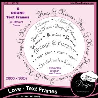 Love Text Frames by Boop Designs