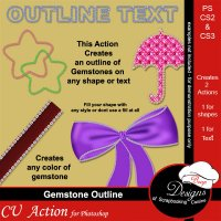 Gemstone Outlines by Boop Designs