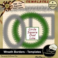 Wreath Borders - TEMPLATES by Boop Designs