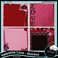Valentine Love Stacked Papers by Boops Designs