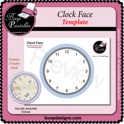 Clock Face TEMPLATE by Boop Designs