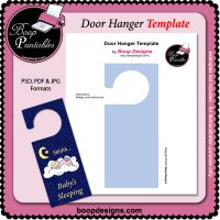Door Hanger Sign TEMPLATE by Boop Designs