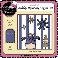 Holiday Paper Bag Topper 01 by Boop Designs