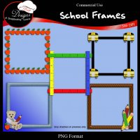 School Frames I by Boop Designs