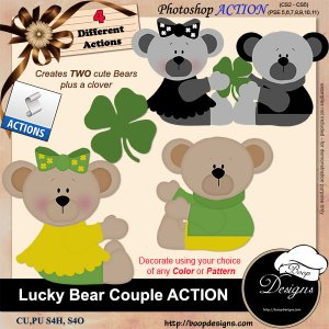 Lucky Bear Couple ACTION by Boop Designs
