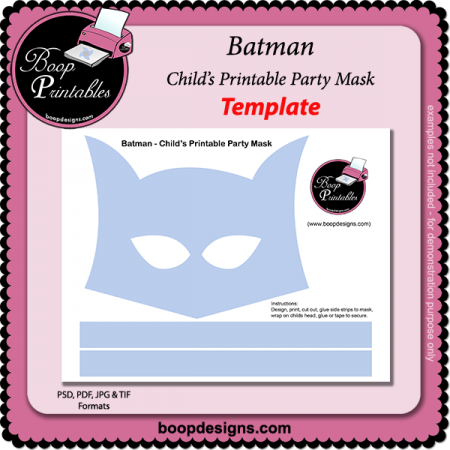 Batman - Printable Mask Template