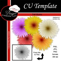 Fall Mums - CU Template by Boop Designs