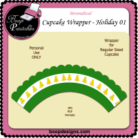 Holiday Cupcake Wrapper 01 by Boop Designs
