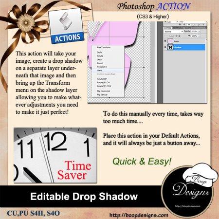 Editable Drop Shadow by Boop Designs