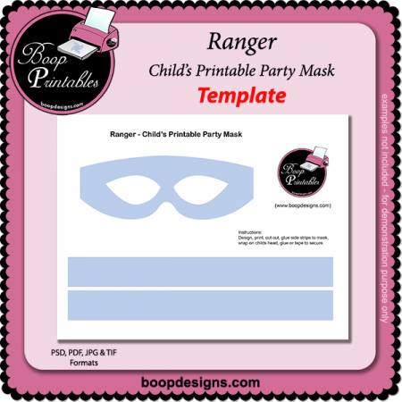 Ranger - Printable Mask Template