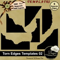Torn Edges TEMPALTE 02 by Boop Designs