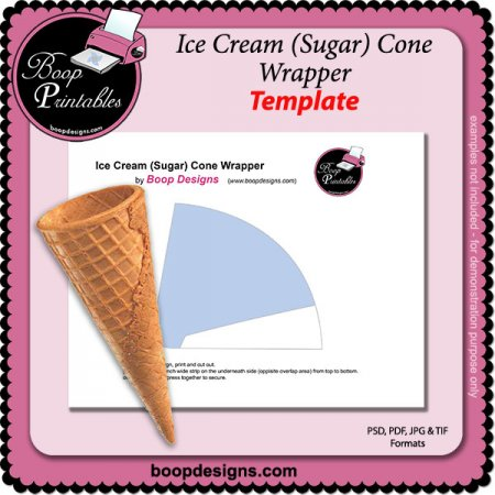 Ice Cream Sugar Cone Wrapper by Boop Designs