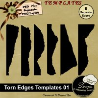 Torn Edges TEMPLATES 01 by Boop Designs