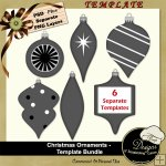 Christmas Ornaments Templates Bundle by Boop Designs