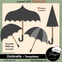 Umbrella TEMPLATES by Boop Designs