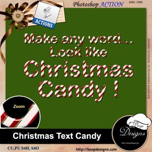 Christmas Text Candy by Boop Designs