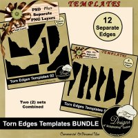 Torn Edges TEMPALTE Bundle by Boop Designs
