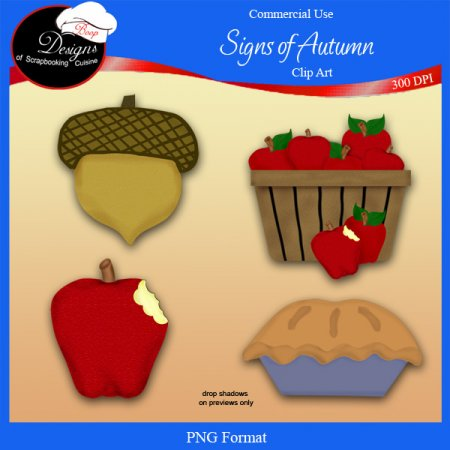 Signs of Autumn - CU Clipart By Boop Designs