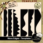 Wave Edges TEMPLATES by Boop Designs