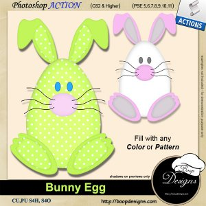 Bunny Rabbit Egg by Boop Designs
