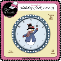 Holiday Clock Face 01 by Boop Designs