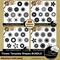 Flower Shapes Templates Bundle by Boop Designs
