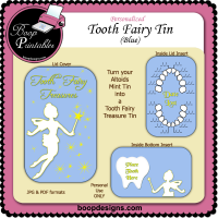 Tooth Fairy Tin Blue by Boop Designs