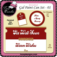 Gallon Paint Can Set Get Well 01 by Boop Designs