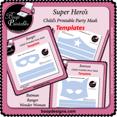 Super Hero's BUNDLE - Printable Mask Templates
