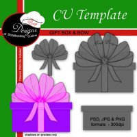 Bow With Gift Box - CU Template by Boop Designs