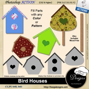Bird House ACTIONS by Boop Designs