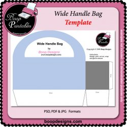 Wide Handle Bag by Boop Designs