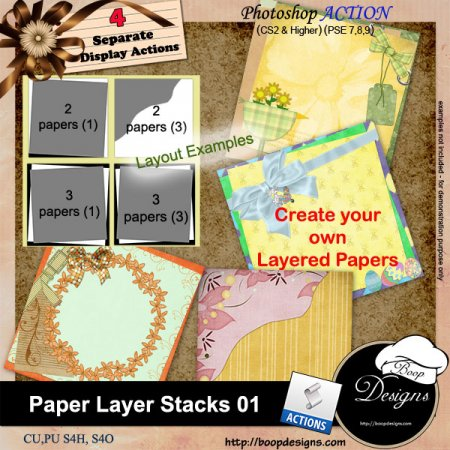 Paper Layer Stacks 01 by Boop Designs.