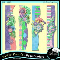 Easter Parade Page Borders by Boop Designs
