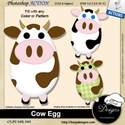 Cow Egg by Boop Designs