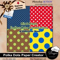 Polka Dot Paper Creator by Boop Designs
