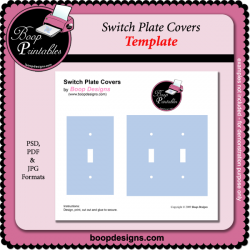 Switch Plate Covers TEMPLATE by Boop Designs