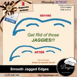 Smooth Jagged edges by Boop Designs
