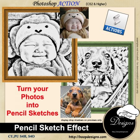 Pencil Sketch Effect by Boop Designs