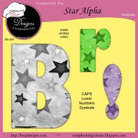 Star Alpha - CU Template by Boop Designs
